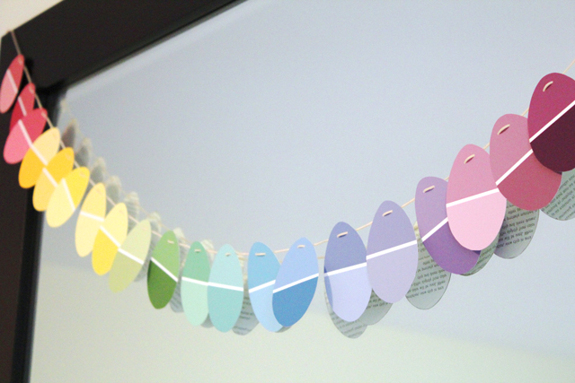Paint Chip Garland By Modern Parents Messy Kids
